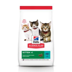 Сухой корм Hill's Science Plan для котят для здорового роста и развития с тунцом, 1.5 кг