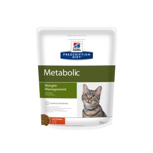 Сухой диетический корм для кошек Hill's Prescription Diet Metabolic способствует снижению и контролю веса с курицей, 0.25 кг
