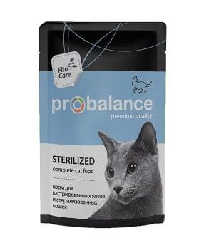 ПРОБаланс консервы для кошек  для стерилизованных и кастрированных, 0,085кг