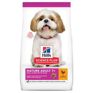 Сухой корм Hill's Science Plan для пожилых собак (7+) мелких пород для поддержания активности и здоровья желудочно-кишечного тракта с курицей, 0.3 кг