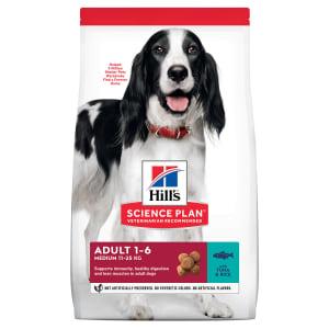Сухой корм Hill's Science Plan для взрослых собак средних пород для поддержания иммунитета с тунцом и рисом, 2.5 кг