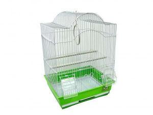 Клетка для птиц № 1 ( 30 х 23 х 39 ) Фигурная комплект 113