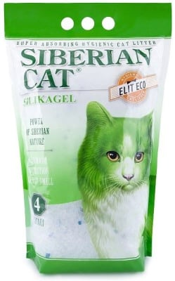 Наполнитель Сибирская Кошка Элитный силикагель ЭКО, 4л