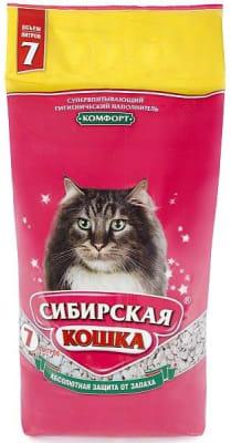 Наполнитель сибирская кошка комфорт, 7л/5кг