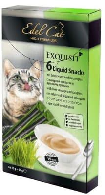 Лакомства для кошек Эдель Кэт крем - суп колбаса, травы