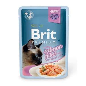 Brit Premium пауч для стерилизованных кошек со вкусом лосося в соусе, 0.085кг