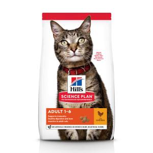 Сухой корм Hill's Science Plan для взрослых кошек для поддержания жизненной энергии и иммунитета с курицей, 0.3 кг