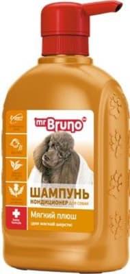 Шампунь-кондиционер М.Бруно для собак мягкий плюш, 0.350л