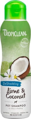 Шампунь Тропиклин для собак с лаймом и кокосом от линьки, 0.355л