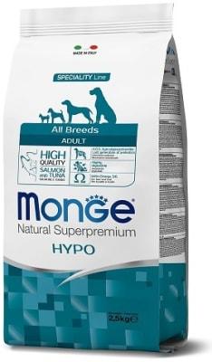 Monge Dog Speciality Hypo корм с лососем и тунцом для взрослых собак всех пород 2,5 кг