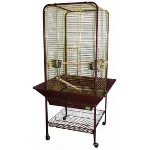 Клетка для птиц вольер № 1 ( 80 * 80 * 150 ) золото А16