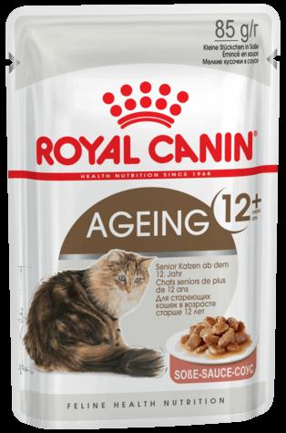 Royal Canin AGEING +12 (В СОУСЕ) 0.085кг, Влажный корм для кошек старше 12 лет