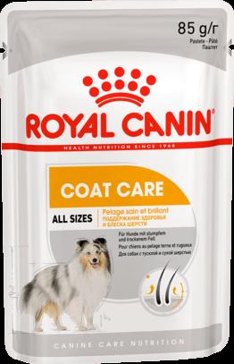Royal Canin COAT BEAUTY POUCH LOAF (В ПАШТЕТЕ) 0.085кг, Влажный корм для собак с тусклой и сухой шерстью