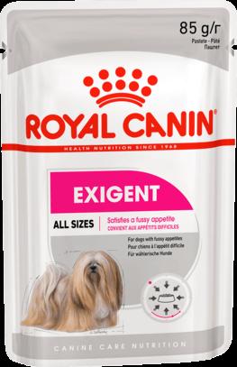 Royal Canin EXIGENT POUCH LOAF (В ПАШТЕТЕ) 0.085кг, Для взрослых собак с 10 месяцев до 8 лет
