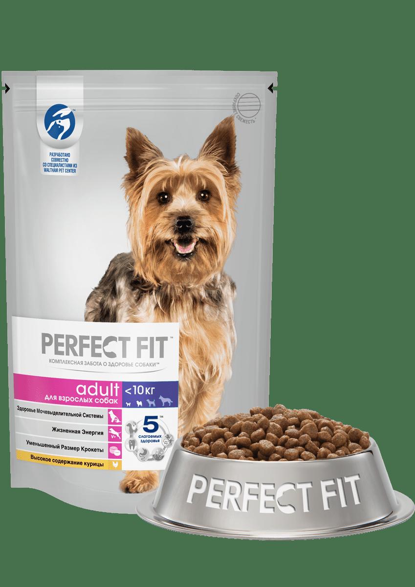 PERFECT FIT для взрослых собак мелких/миниатюрных пород со вкусом курицы
