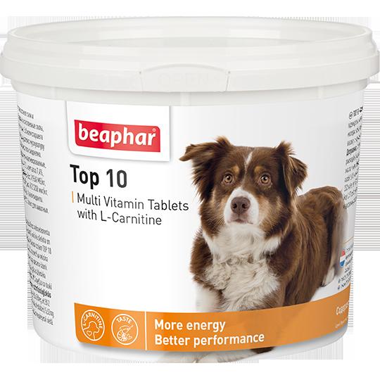 Кормовая добавка Top 10 с L-карнитином для собак, 180 таблеток