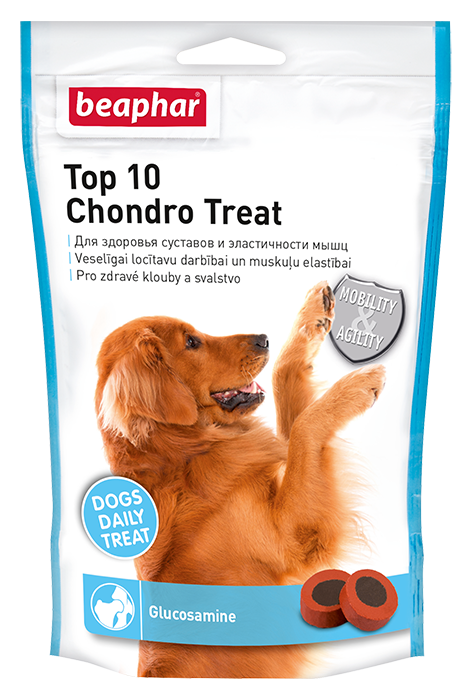 Лакомство Top 10 Chondro Treat для здоровья суставов и эластичности мышц собак