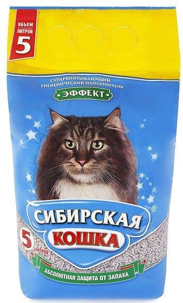 Наполнитель Сибирская Кошка Эффект, 5л