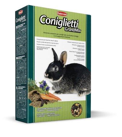 Комплексный корм для декоративных кроликов Padovan GrandMix, 0.85кг