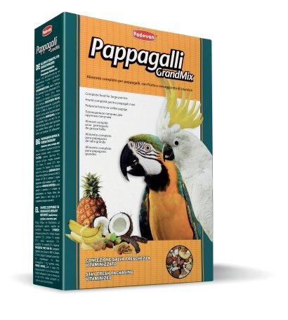 Комплексный корм для крупных попугаев Padovan GrandMix, 0.6кг