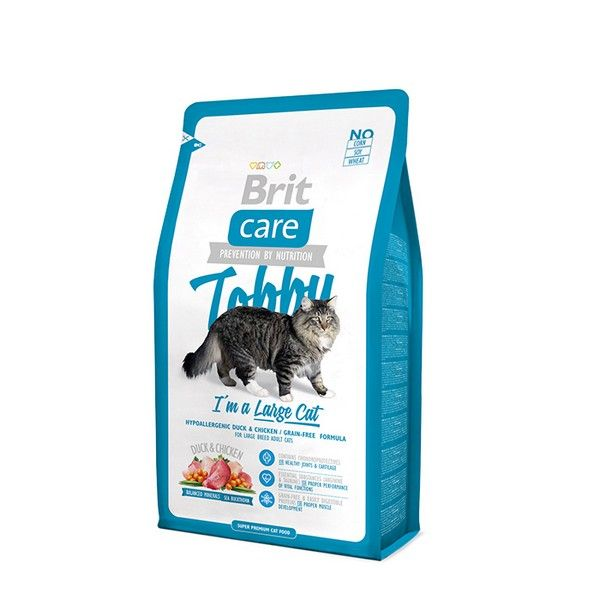 Brit Premium сухой корм для кошек Care Tobby для крупных пород, 0.4кг