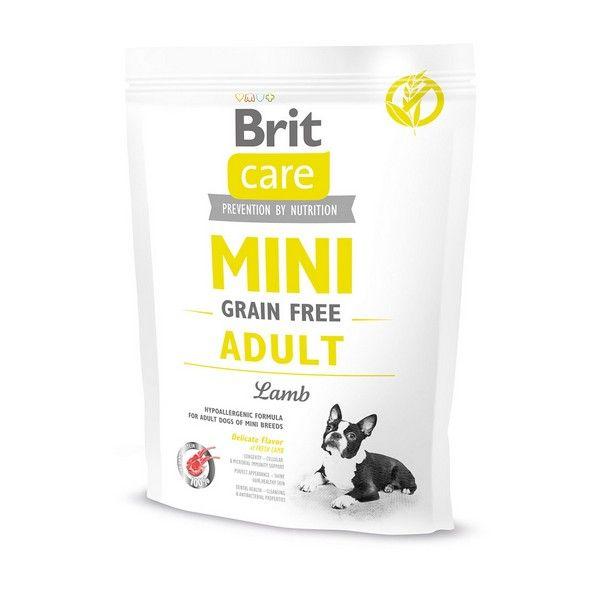 Brit Premium сухой корм для собак Care MINI GF со вкусом ягненка, 0.4кг