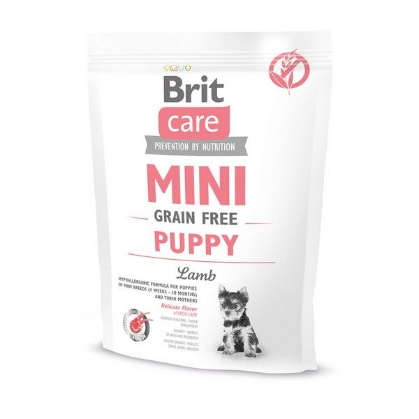 Brit Premium сухой корм для щенков Care MINI GF со вкусом ягненока, 0.4кг