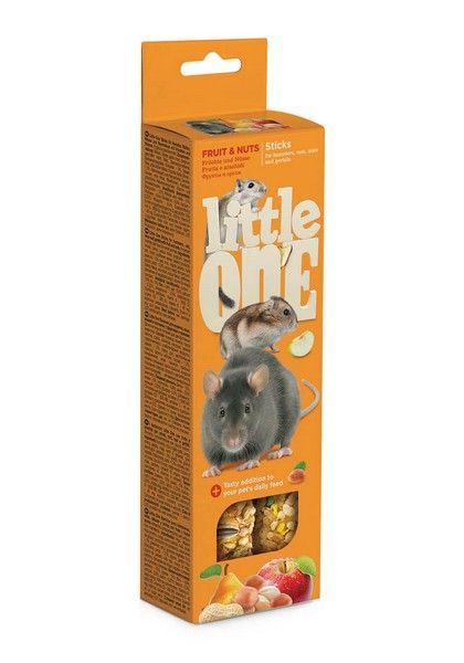 Лакомство для грызунов Little One палочки с фруктами и орехами, 0.15кг