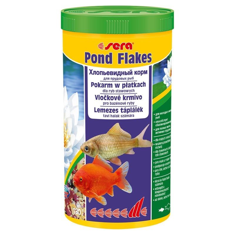 Корм для рыб SERA Pond Flakes Корм для прудовых рыб, 1л