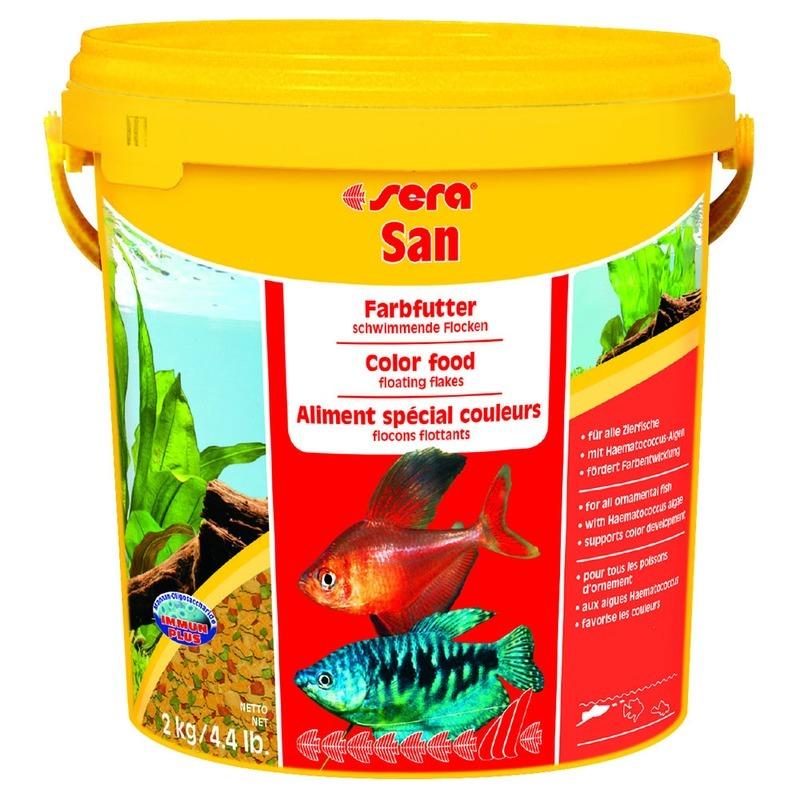 Корм для рыб SERA San Корм для рыб основной в хлопьях для улучшения окраски, 10л