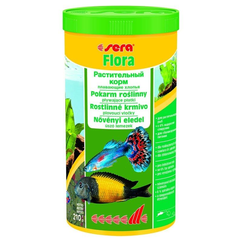 Корм для рыб SERA Flora растительный в хлопьях, 1л