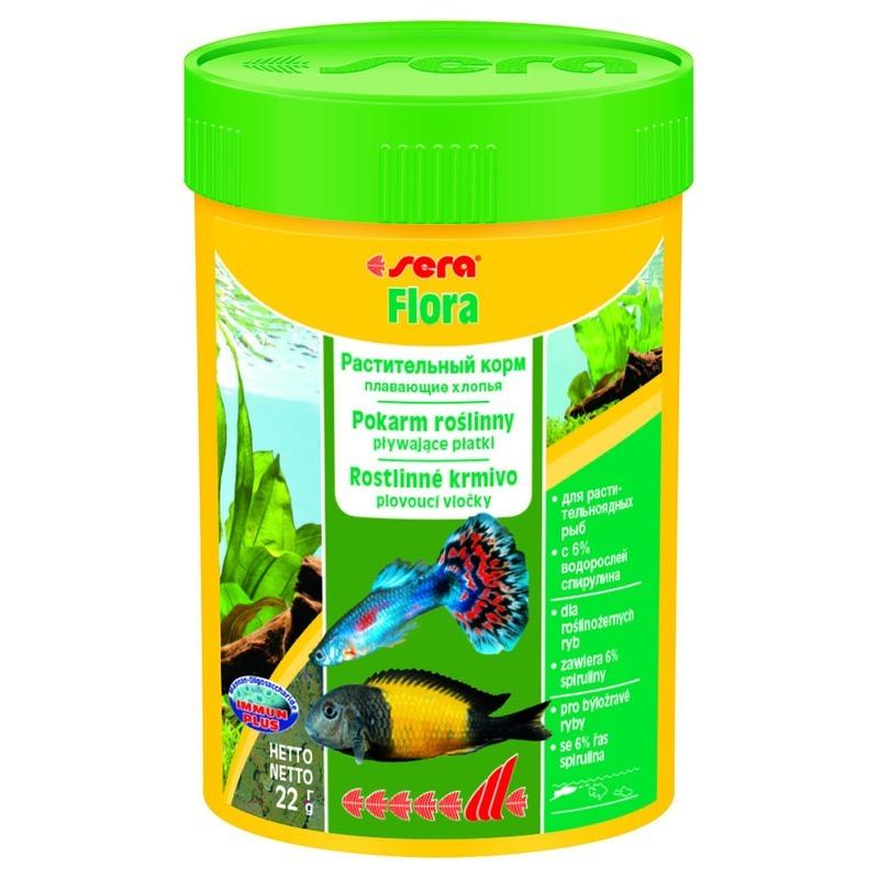 Корм для рыб SERA Flora растительный в хлопьях, 0.1л
