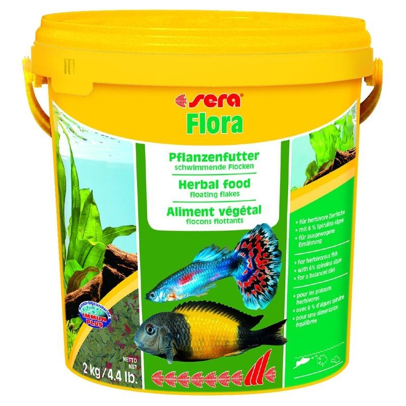 Корм для рыб SERA Flora растительный в хлопьях, 10л