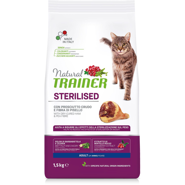 Сухой корм для кошек Trainer для кастрированных котов и стерилизованных кошек со вкусом ветчины, 1.5кг