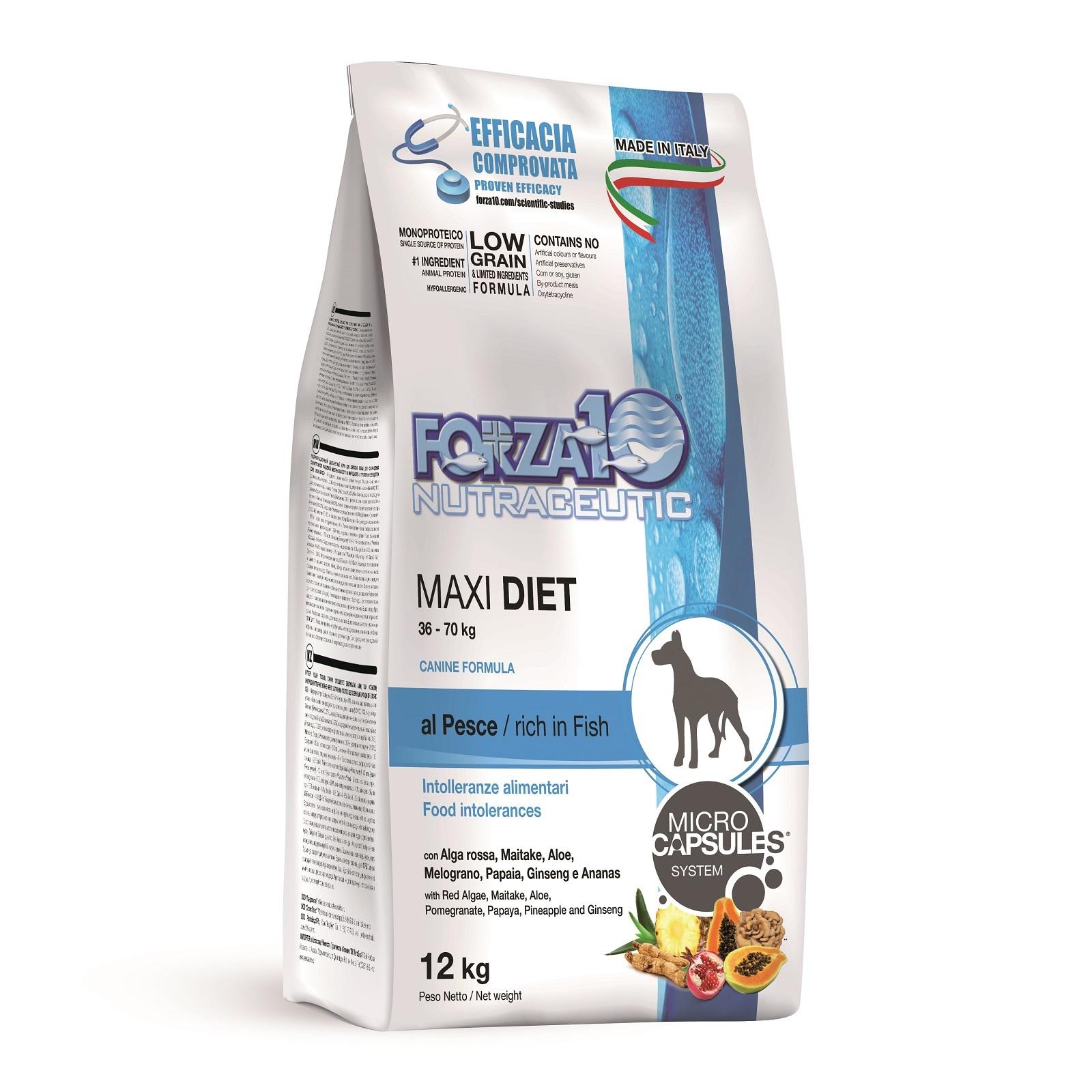 Сухой корм Forza 10 Maxi Diet Pesce для взрослых собак с кониной, 12кг