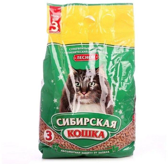 Наполнитель Сибирская Кошка лесной,  3л