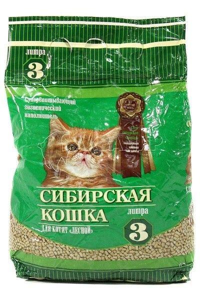 Наполнитель для котят Сибирская Кошка лесной, 3л