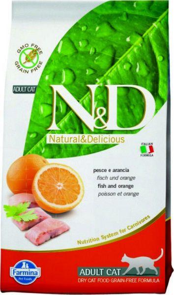 Сухой корм для кошек Farmina N&D со вкусом рыбы и апельсина, 0.3 кг