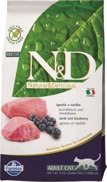 Сухой корм для кошек Farmina N&D со вкусом ягненка и черники, 10 кг