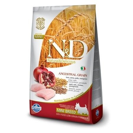 Сухой корм для собак Farmina N&D для миниатюрных пород со вкусом курицы и граната, 0.8 кг