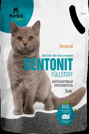Murkel гигиенический наполнитель для кошачьего туалета бентонит, 5л