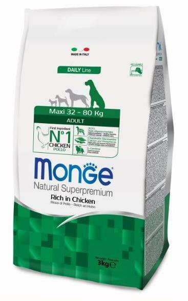 Monge Dog Maxi корм для взрослых собак крупных пород 3 кг
