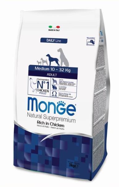 Monge Dog Medium корм для взрослых собак средних пород 3 кг