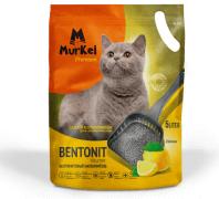 Murkel Гигиенический наполнитель для кошачьего туалета с ароматом лимона, бентонит, 5л