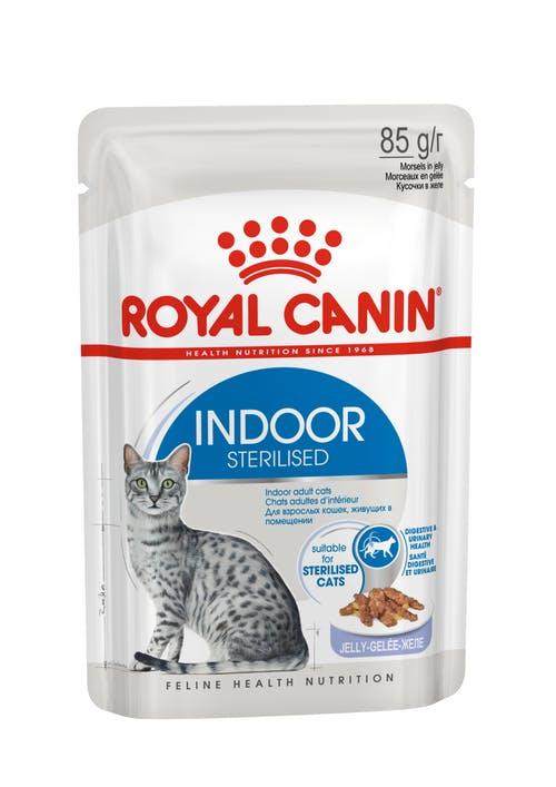 Влажный корм для кошек Royal Canin Indoor Sterilised в соусе, 0.085кг