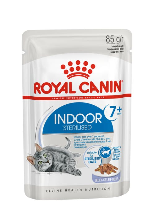 Влажный корм для кошек Royal Canin Indoor Sterilised 7+ years в желе, 0.085кг