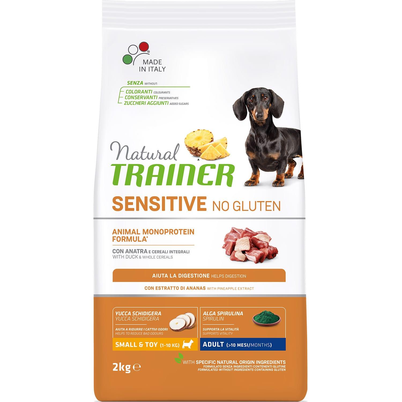 Trainer Sensitive No Gluten Mini Adult Duck для маленьких пород с уткой сухой корм для собак, 2кг