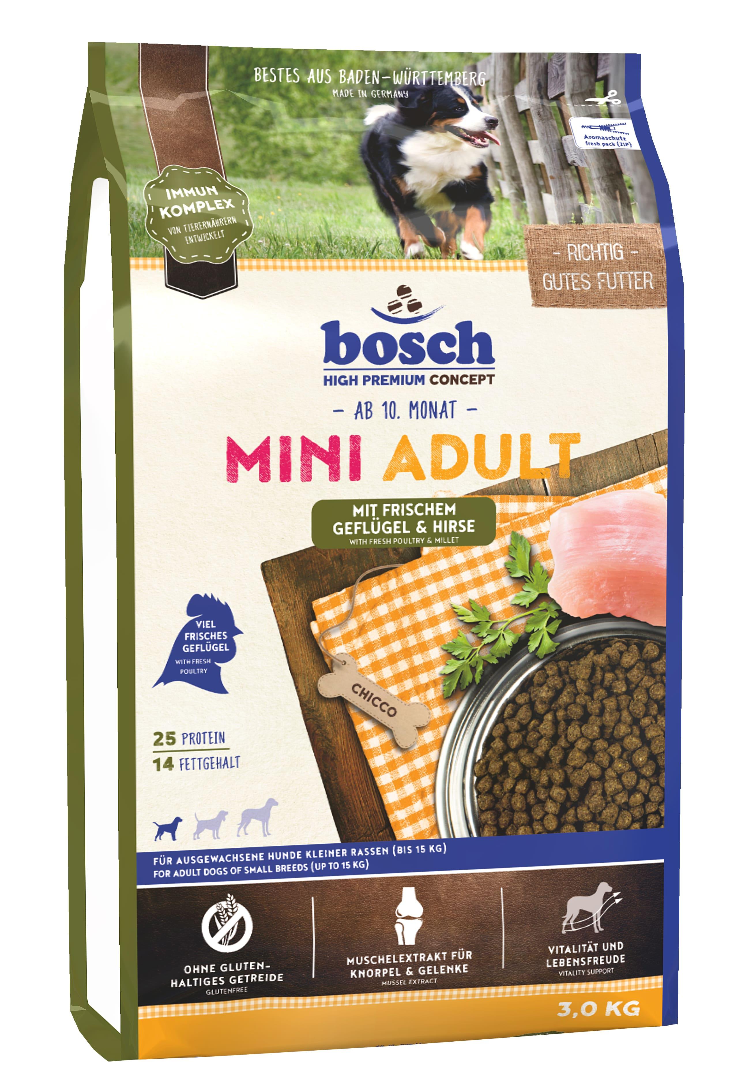 Bosch Mini Adult птица и просо, 3кг
