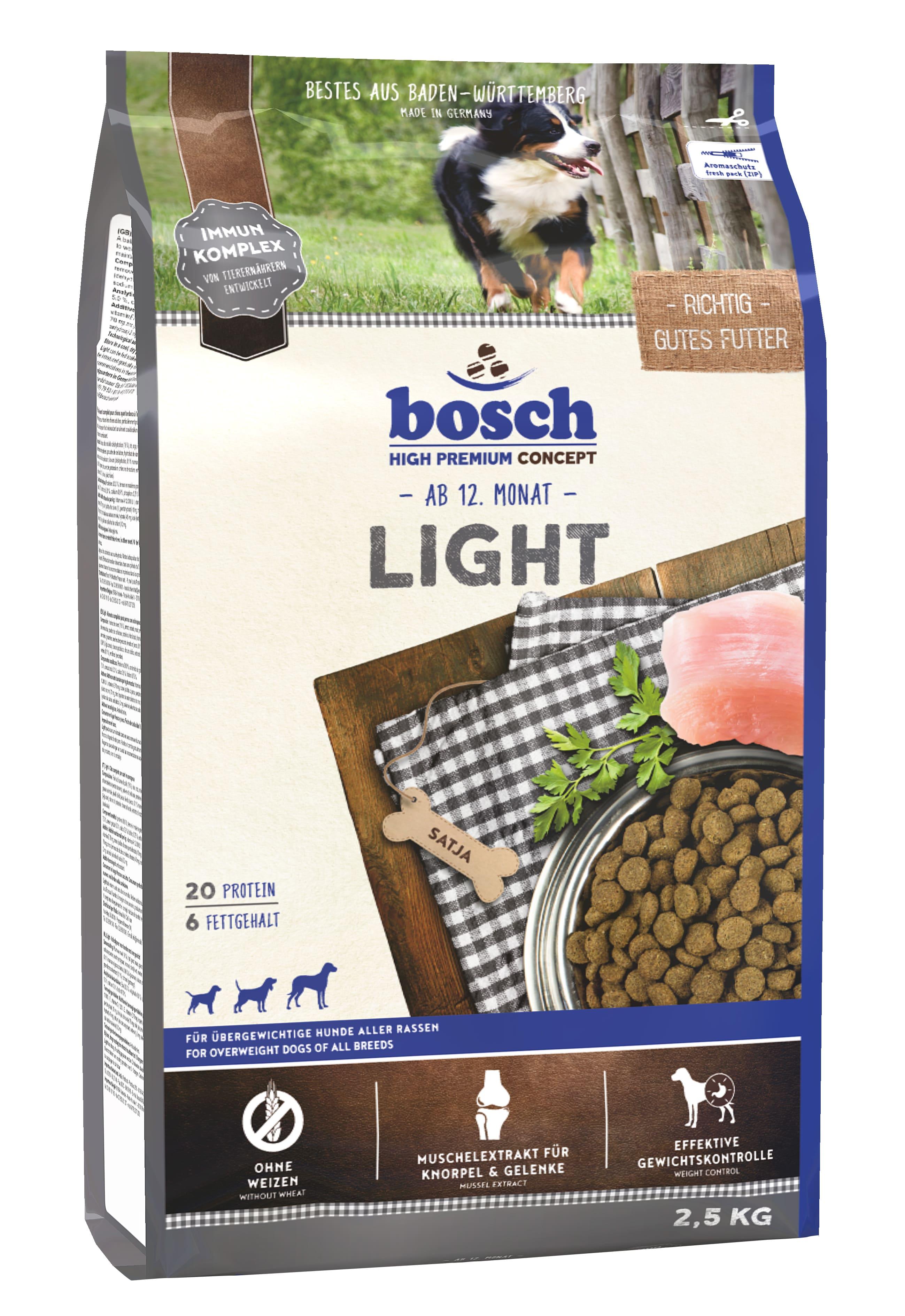 Корм Bosch Light для собак, 1кг