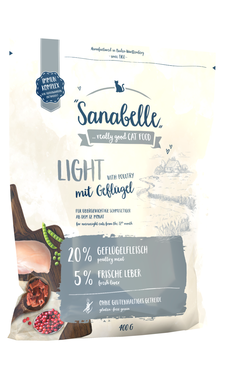 Низкокалорийный кошачий корм Sanabelle Light способствующий снижению веса, 10кг